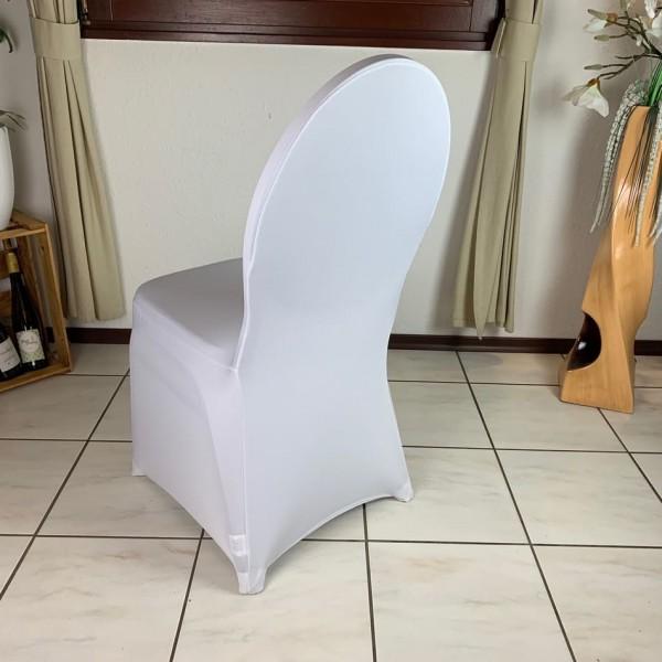 Stretch Stuhlhusse in Weiß & Creme mieten